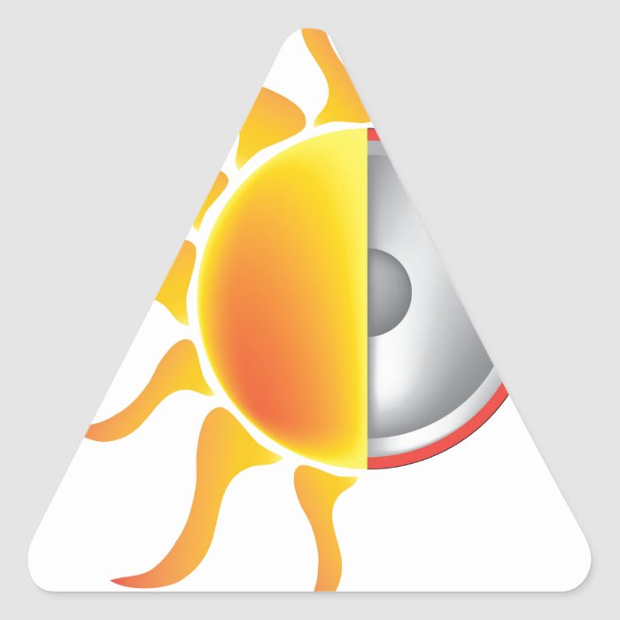 solar energy triangle sticker