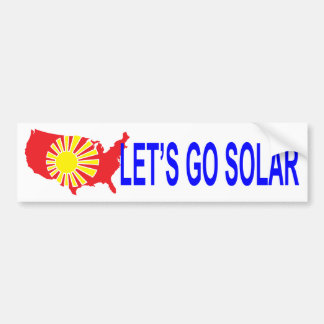 Solar Energy United States Bumper Sticker