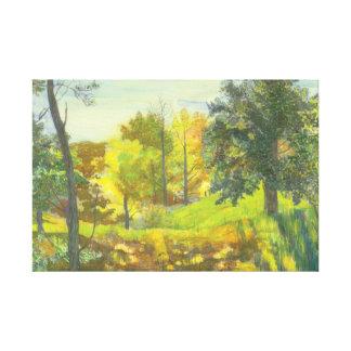 Solar fall canvas print