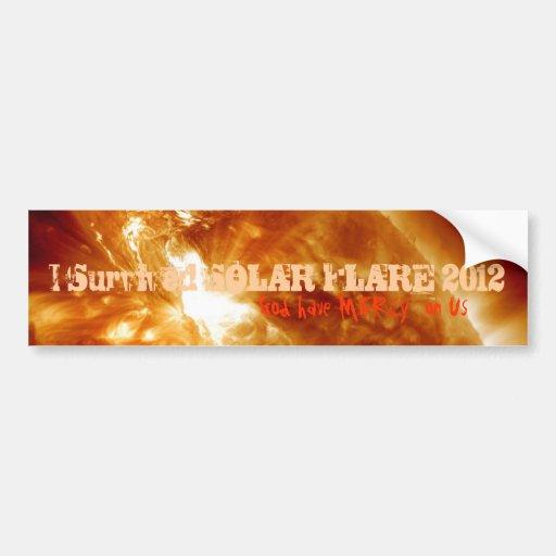 Solar Flare 2012 Bumper Stickers