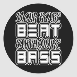Solar Flare BEAT Earthquake BASS Classic Round Sticker