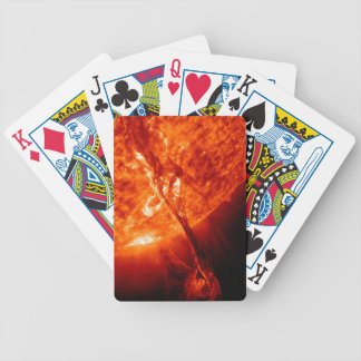 Solar Flare Bicycle Playing Cards