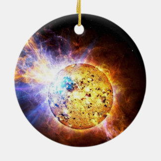 Solar flare ceramic ornament
