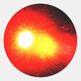 Solar Flare Classic Round Sticker