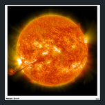 """Solar Flare Coronal Mass Ejection on Sun Wall Decal<br><div class=""""desc"""">On August 31, 2012 a long filament of solar material that had been hovering in the sun&#39;s atmosphere, the corona, erupted out into space at 4:36 p.m. EDT. The coronal mass ejection, or CME, traveled at over 900 miles per second. The CME did not travel directly toward Earth, but did...</div>"""