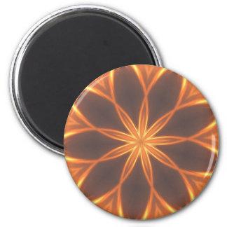 Solar flare design 2 inch round magnet