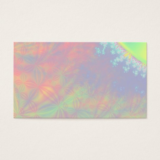 Solar Flare Fractal. Colorful Abstract. Business Card