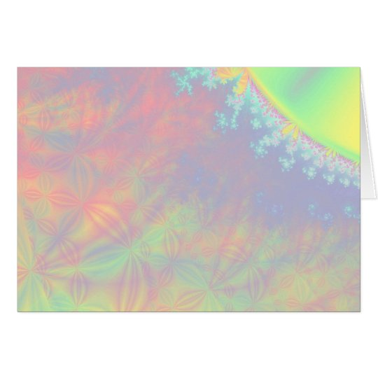 Solar Flare Fractal. Colorful Abstract. Card
