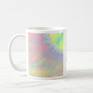 Solar Flare Fractal. Colorful Abstract. Coffee Mug
