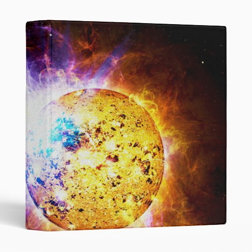 Solar Flare from the Star EV Lacertae EV Lac 3 Ring Binder