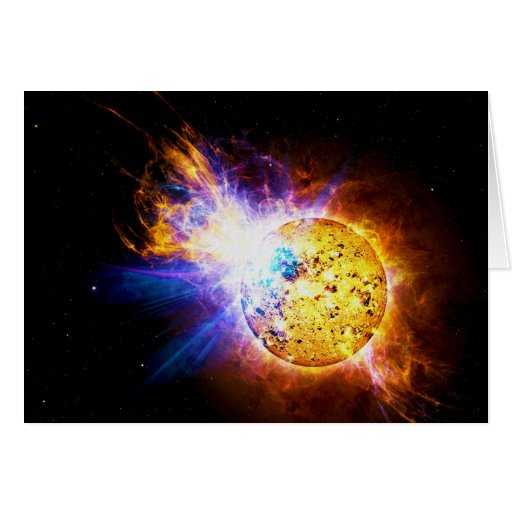 Solar Flare from the Star EV Lacertae EV Lac Greeting Cards