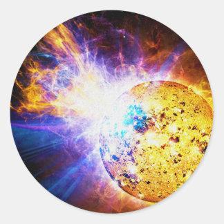 Solar Flare from the Star EV Lacertae EV Lac Classic Round Sticker