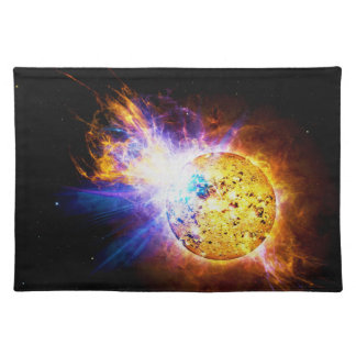 Solar Flare from the Star EV Lacertae EV Lac Cloth Placemat