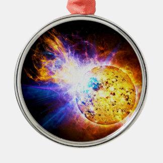 Solar Flare from the Star EV Lacertae EV Lac Metal Ornament