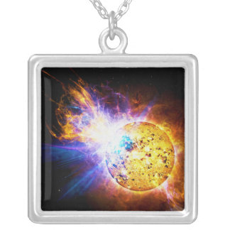 Solar Flare from the Star EV Lacertae EV Lac Custom Necklace