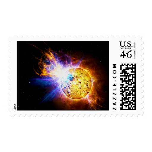 Solar Flare from the Star EV Lacertae EV Lac Stamps