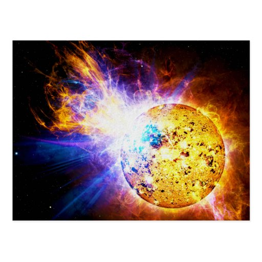 Solar Flare from the Star EV Lacertae EV Lac Post Cards