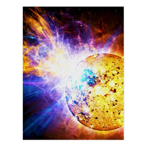 Solar Flare from the Star EV Lacertae EV Lac Post Card