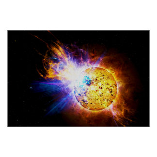 Solar Flare from the Star EV Lacertae EV Lac Poster