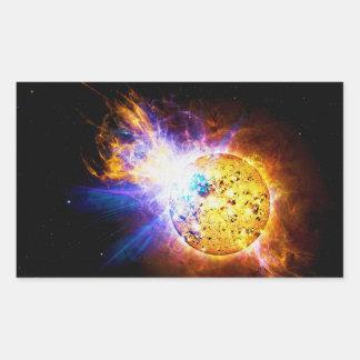 Solar Flare from the Star EV Lacertae EV Lac Rectangular Sticker