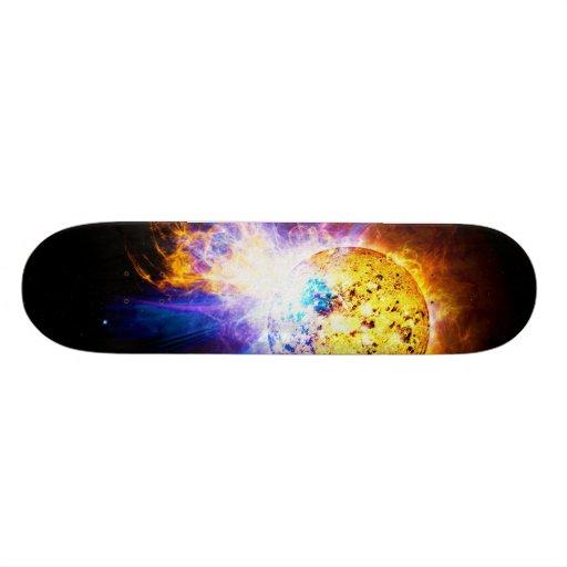 Solar Flare from the Star EV Lacertae EV Lac Custom Skateboard