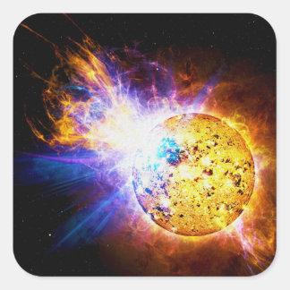 Solar Flare from the Star EV Lacertae EV Lac Square Sticker