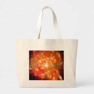 Solar flare large tote bag