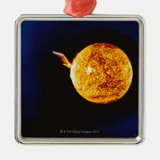 Solar Flare Metal Ornament