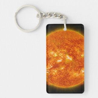 Solar Flare or Coronal Mass Ejection on Sun Keychain