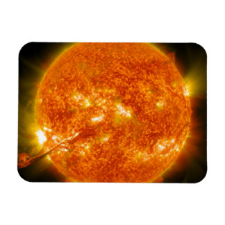 Solar Flare or Coronal Mass Ejection on Sun Magnet
