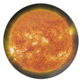 Solar Flare or Coronal Mass Ejection on Sun Melamine Plate