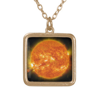 Solar Flare or Coronal Mass Ejection on Sun Jewelry