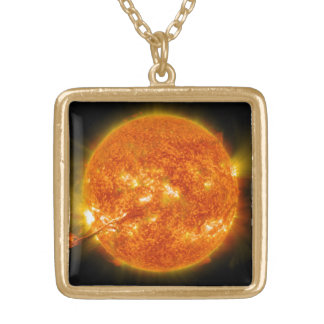 Solar Flare or Coronal Mass Ejection on Sun Personalized Necklace