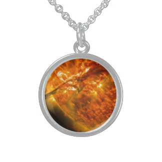 Solar Flare or Coronal Mass Ejection on Sun Custom Necklace