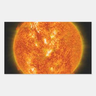 Solar Flare or Coronal Mass Ejection on Sun Rectangular Sticker