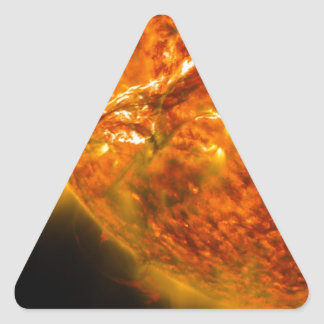 Solar Flare or Coronal Mass Ejection on Sun Triangle Sticker