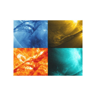 Solar Flare or Coronal Mass Ejection Sun Collage Canvas Print