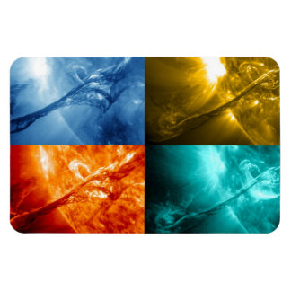 Solar Flare or Coronal Mass Ejection Sun Collage Magnet