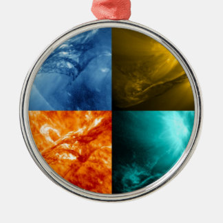 Solar Flare or Coronal Mass Ejection Sun Collage Metal Ornament