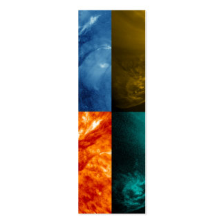 Solar Flare or Coronal Mass Ejection Sun Collage Mini Business Card