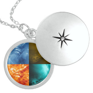 Solar Flare or Coronal Mass Ejection Sun Collage Lockets