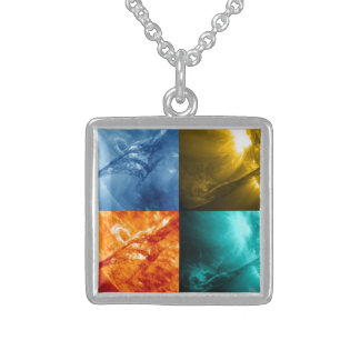 Solar Flare or Coronal Mass Ejection Sun Collage Custom Necklace