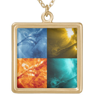 Solar Flare or Coronal Mass Ejection Sun Collage Pendants