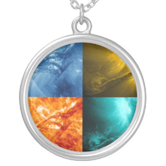 Solar Flare or Coronal Mass Ejection Sun Collage Pendant