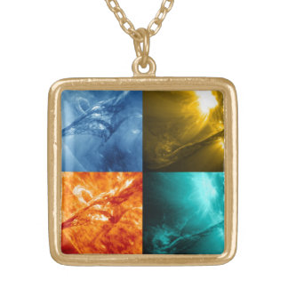 Solar Flare or Coronal Mass Ejection Sun Collage Necklace