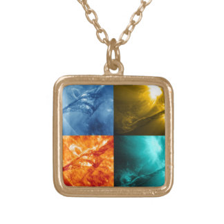 Solar Flare or Coronal Mass Ejection Sun Collage Custom Jewelry