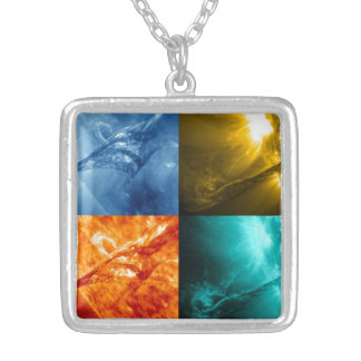 Solar Flare or Coronal Mass Ejection Sun Collage Personalized Necklace