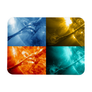 Solar Flare or Coronal Mass Ejection Sun Collage Rectangular Photo Magnet