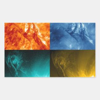 Solar Flare or Coronal Mass Ejection Sun Collage Rectangular Sticker