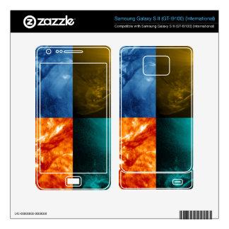 Solar Flare or Coronal Mass Ejection Sun Collage Samsung Galaxy S II Skin